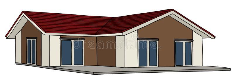 Laag huis stock illustratie