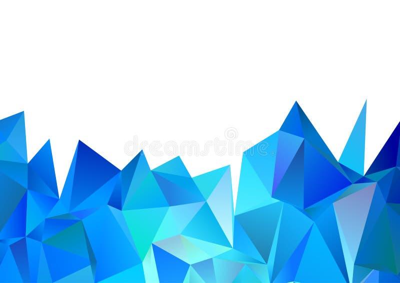 Laag poly abstract ontwerp royalty-vrije illustratie