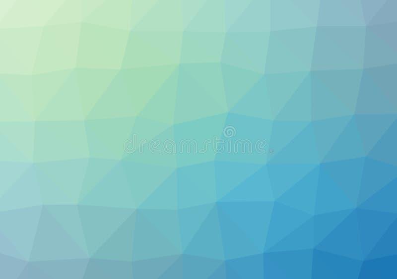 Laag poly helder multicolored licht het patroonkristal driehoeks van de achtergrondkleurengradiënt, de vlakke illustratie van de  stock illustratie