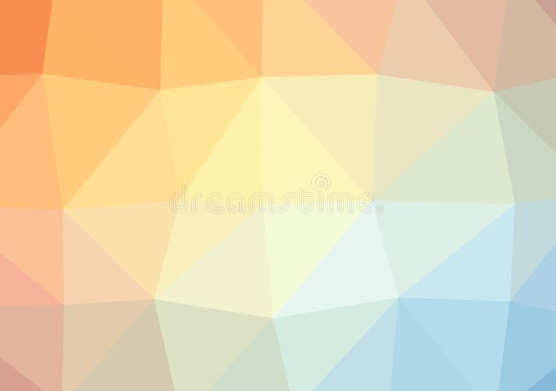 Laag poly helder multicolored licht het patroonkristal driehoeks van de achtergrondkleurengradiënt, de vlakke illustratie van de  royalty-vrije illustratie