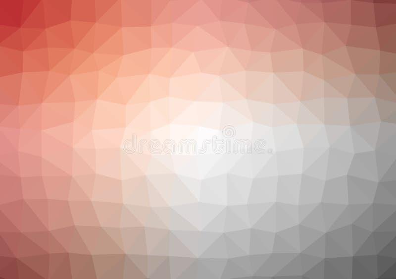 Laag poly helder oranjegeel gekleurd het patroonkristal driehoeks van de achtergrondkleurengradiënt, de vlakke illustratie van de royalty-vrije illustratie