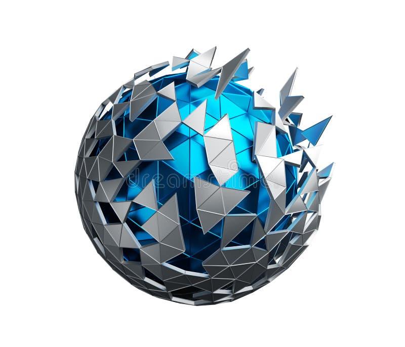 Laag Polygebied met Chaotische Structuur vector illustratie