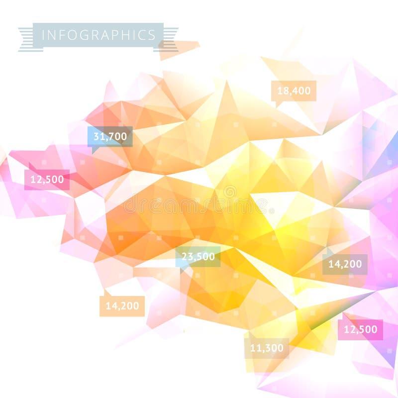 Download Laag-polyinfographicsachtergrond Vector Illustratie - Illustratie bestaande uit achtergrond, gegevens: 39101596