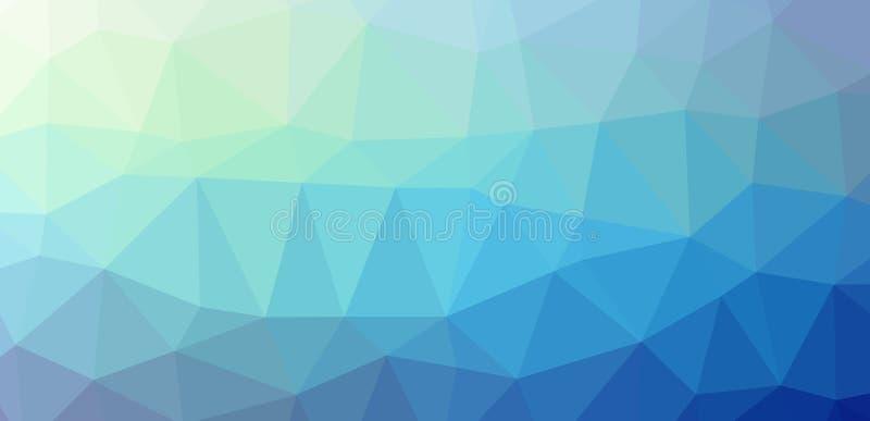 Laag-Polypolygonal blauwe koude royalty-vrije stock foto's