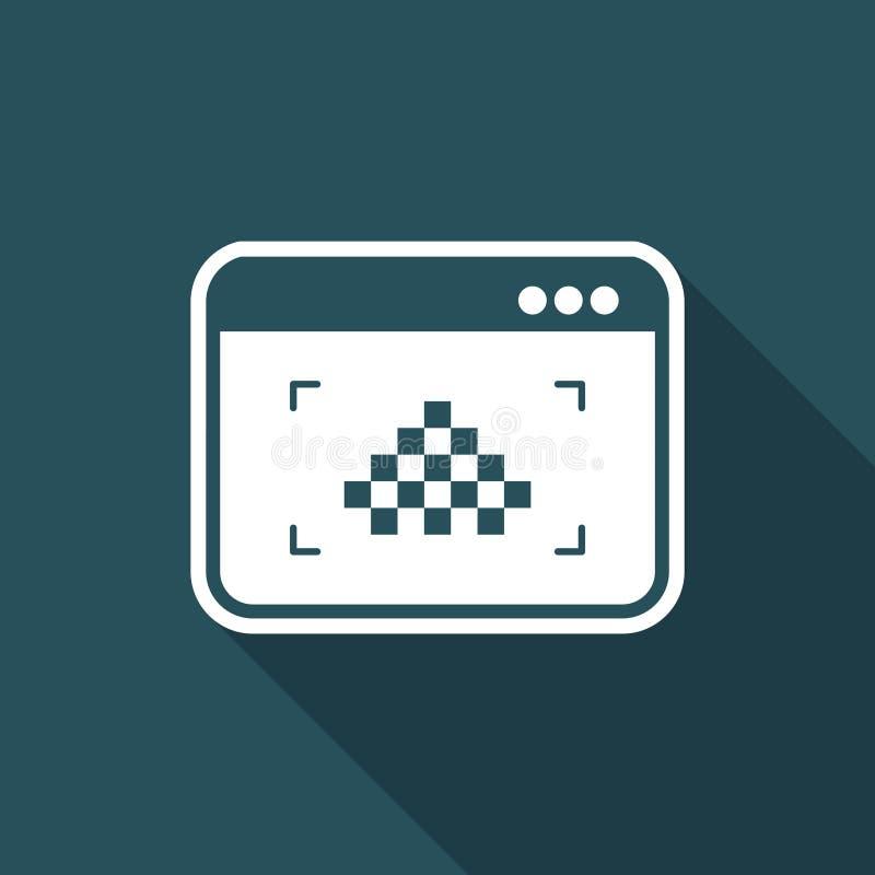 Laag resolutiebeeld - Vector vlak minimaal pictogram royalty-vrije illustratie