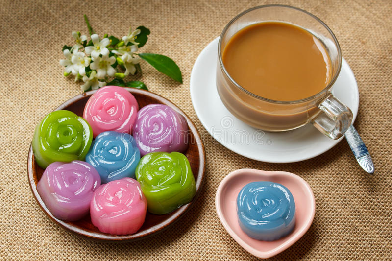 Laag Zoete Cake (Kanom Chan) royalty-vrije stock afbeelding