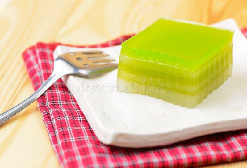 Laag Zoete Cake, Kanom Chan royalty-vrije stock foto's