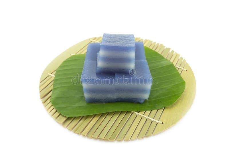 Laagcake, de desserts van Thailand stock afbeeldingen