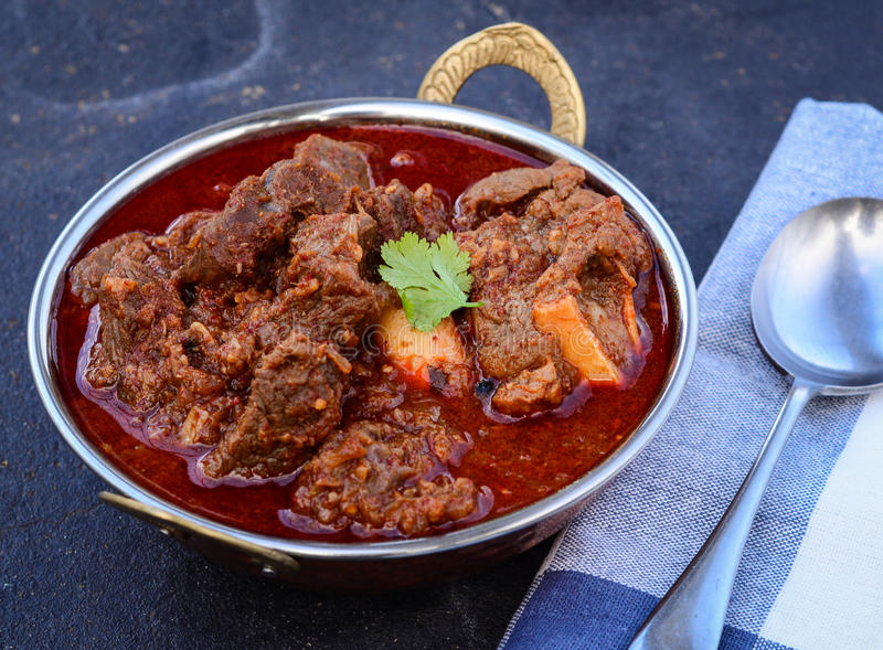 Laal Maas Lamb Red Curry. Spicy Goat/Lamb Indian red curry from the land of Rajasthan stock photography