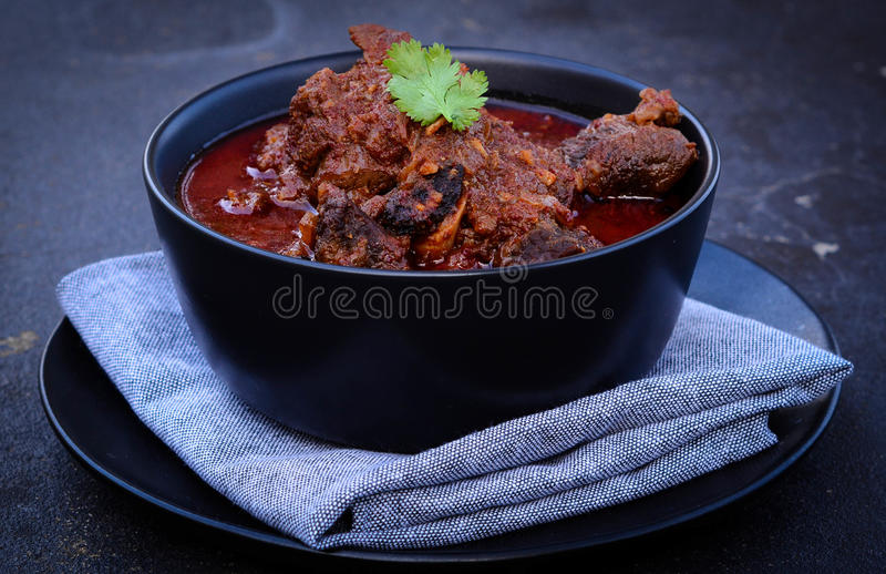 Laal Maas Lamb Red Curry. Spicy Goat/Lamb Indian red curry from the land of Rajasthan stock images