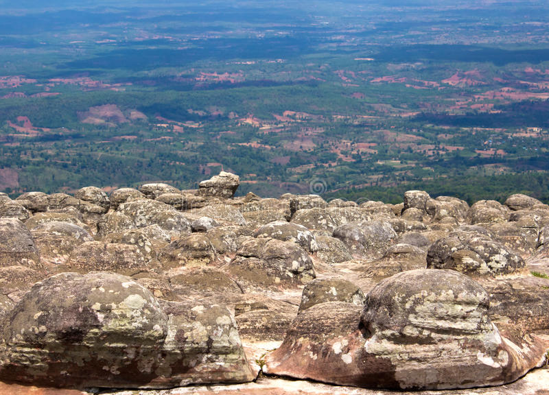 Laan Hin Pum synvinkel på den Phu Hin Rong Kla nationalparken arkivfoton
