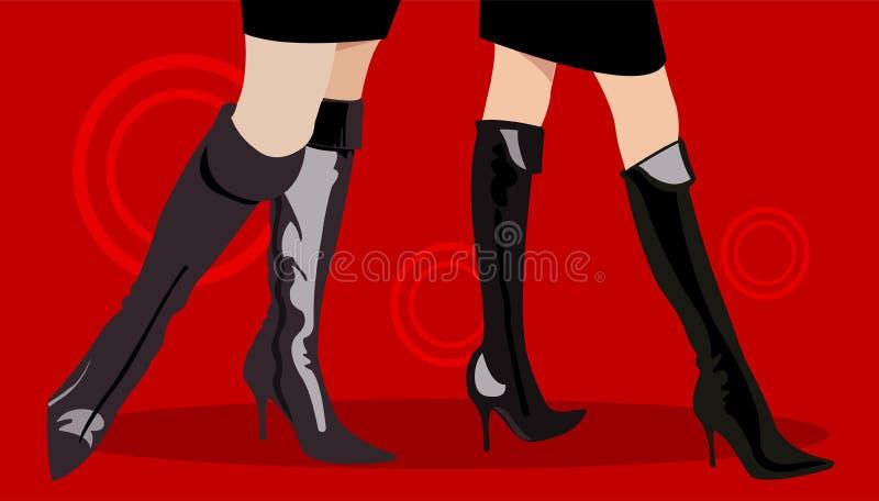 Laarzen stock illustratie