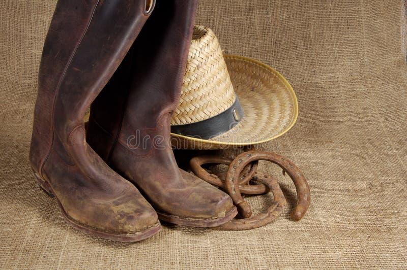 Laarzen, hoed en Hoeven 2 royalty-vrije stock afbeeldingen
