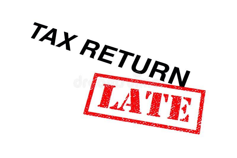 Laat belastingaangifte stock foto