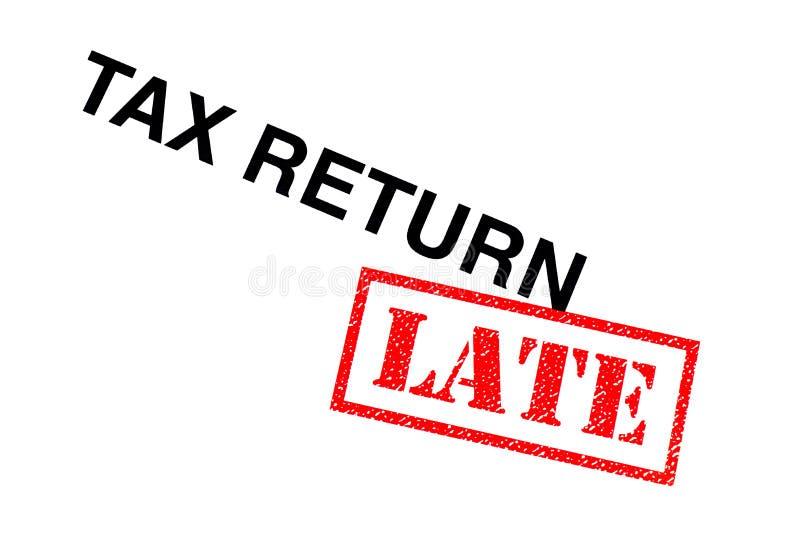 Laat belastingaangifte stock afbeelding