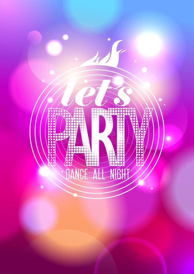 Laat de partij van ` s, de hele avond ontwerpt de dans. royalty-vrije illustratie