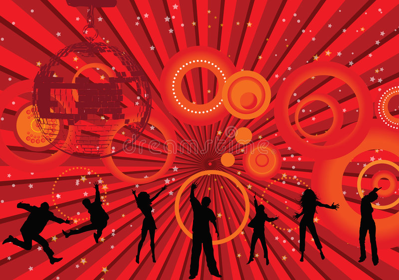 Laat disco royalty-vrije illustratie