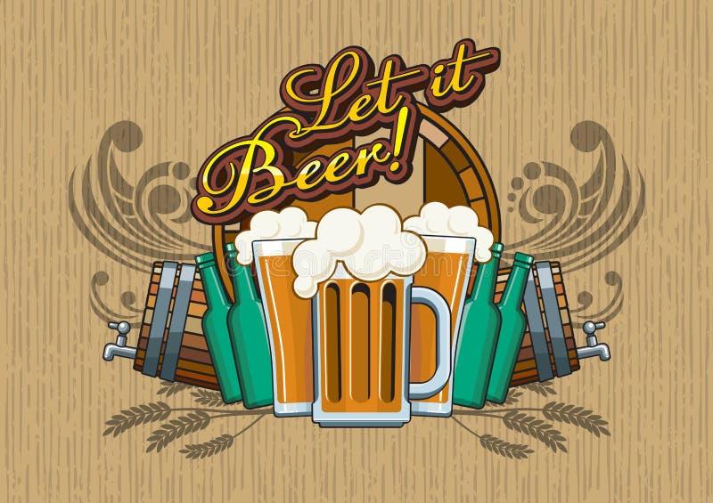 Laat het Bier! stock foto's