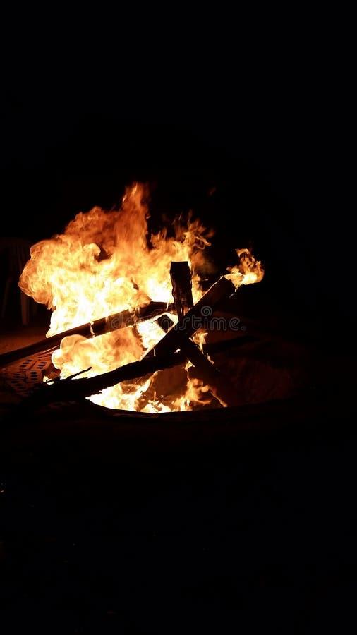 Laat het branden stock fotografie