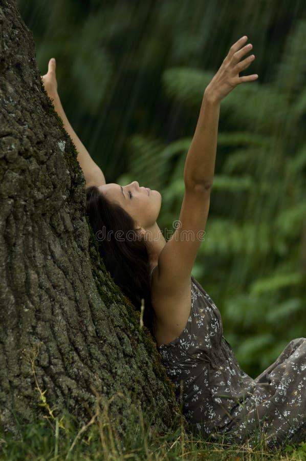 Laat het regenen! royalty-vrije stock afbeeldingen