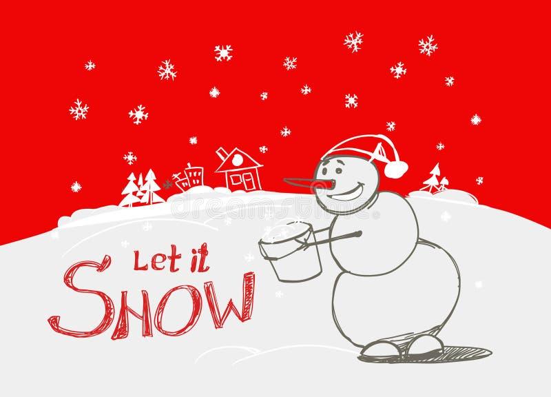 Laat het sneeuwen! royalty-vrije illustratie