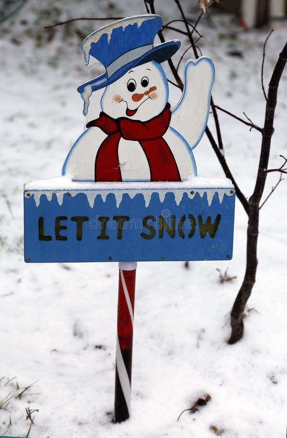 Laat het sneeuwen teken royalty-vrije stock afbeelding