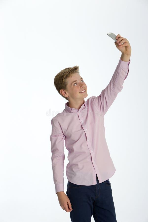 Laat me een Selfie nemen! stock foto
