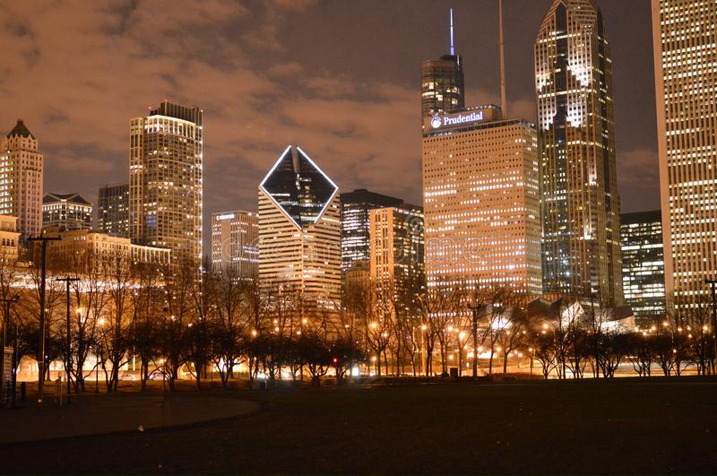 Laat - nacht Chicago royalty-vrije stock foto