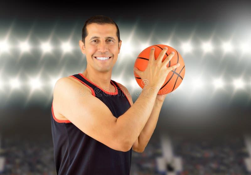 Laat s-spelbasketbal stock fotografie