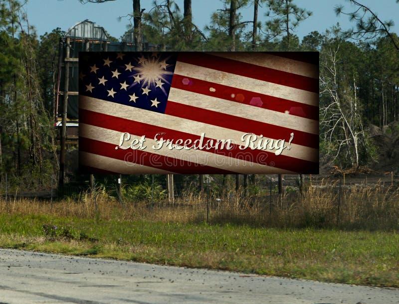 Laat Vrijheid Ring Billboard stock foto's