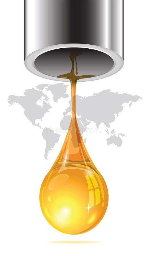 Laatste daling die van olie van het pijpeind wegvloeien royalty-vrije illustratie