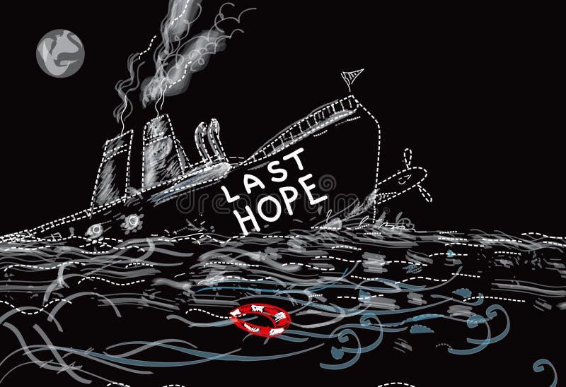 Laatste Hoopschip vector illustratie