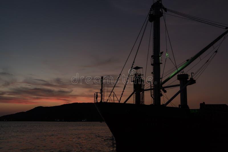 Laatste Licht in het Meer stock afbeelding