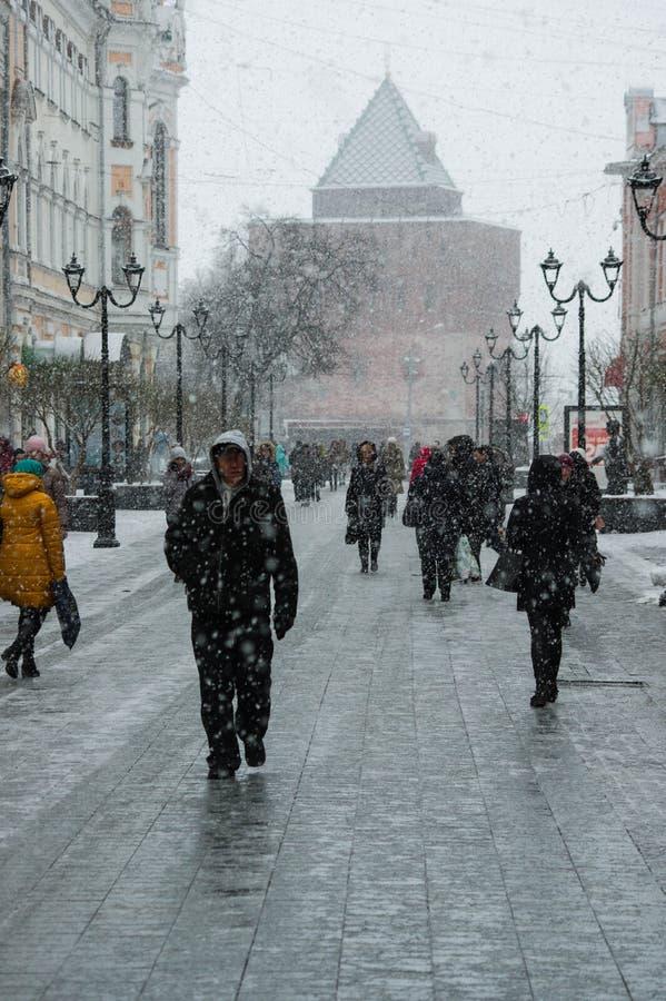 Laatste sneeuwval royalty-vrije stock afbeelding