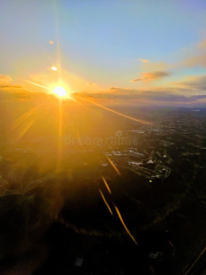 Laatste straal van licht die Japan verlaten stock foto