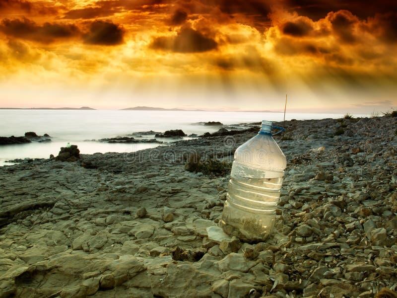 Laatste water stock foto