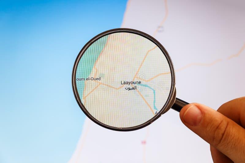Laayoune, Western Sahara correspondencia pol?tica fotografía de archivo libre de regalías
