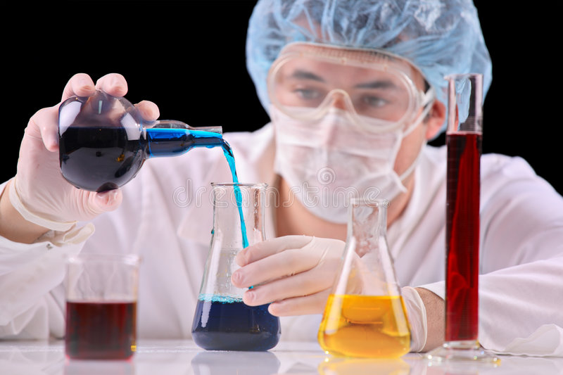 At the lab stock images
