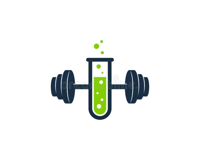 Lab Barbell Logo Icon Design. This design can be used as a logo, icon or as a complement to a design stock illustration