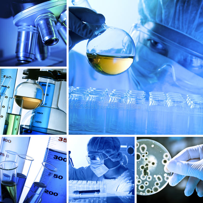 Lab Collage Stock Photo