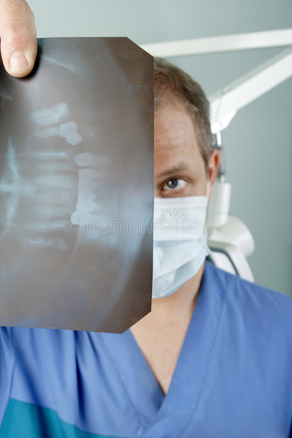 Lab dent. Dental background: work in clinic (operation, tooth replacement stock image
