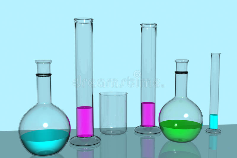 Download Lab equipment stock illustration. Image of colour, illustration - 16666298