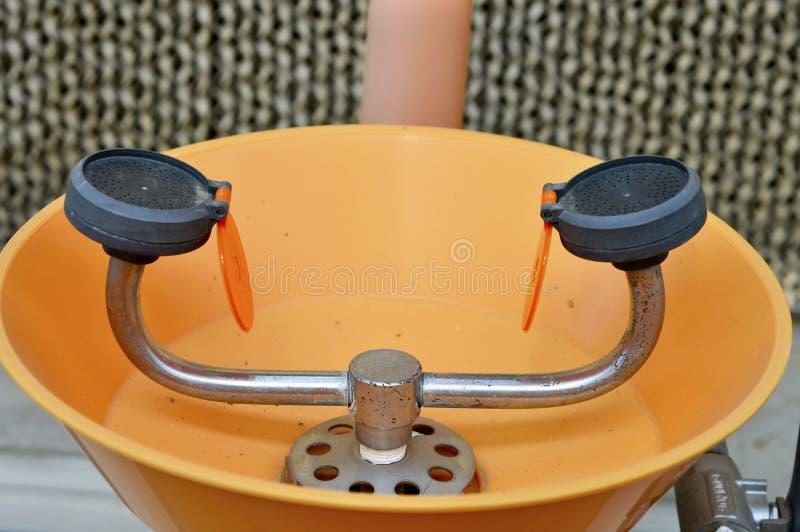 Lab eye wash station stock image