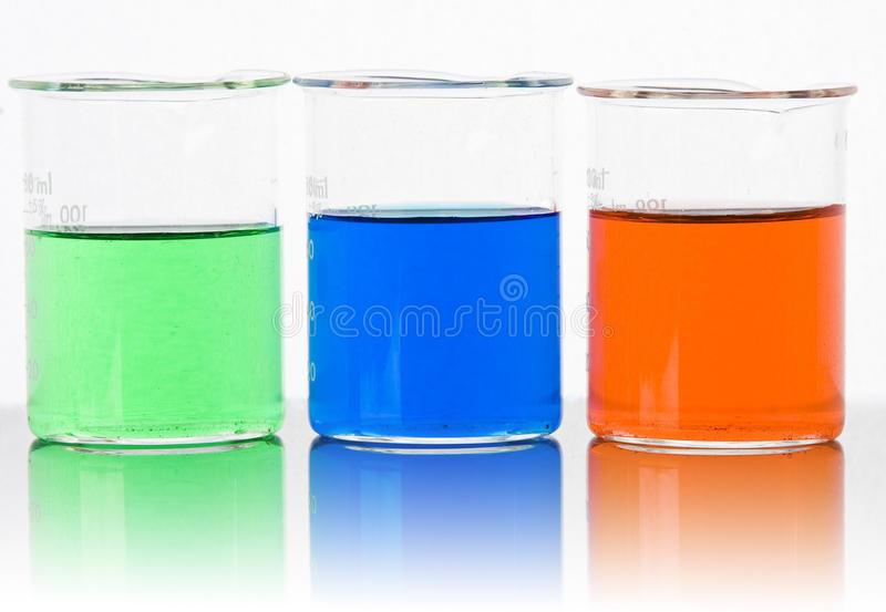 Lab Glass Backlit With Reflection Royalty Free Stock Images