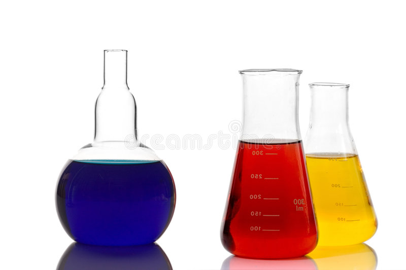 Lab glassware stock photo