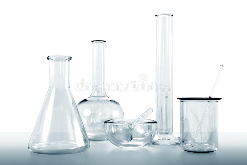 Lab glassware stock photography