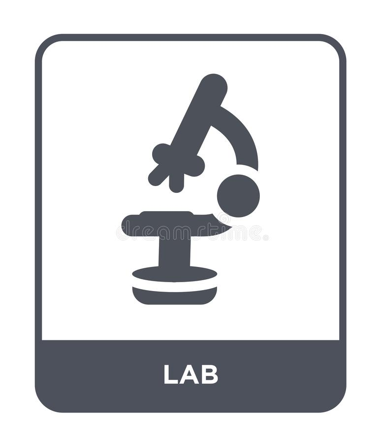 Lab icon in trendy design style. lab icon isolated on white background. lab vector icon simple and modern flat symbol for web site. Mobile, logo, app, UI royalty free illustration