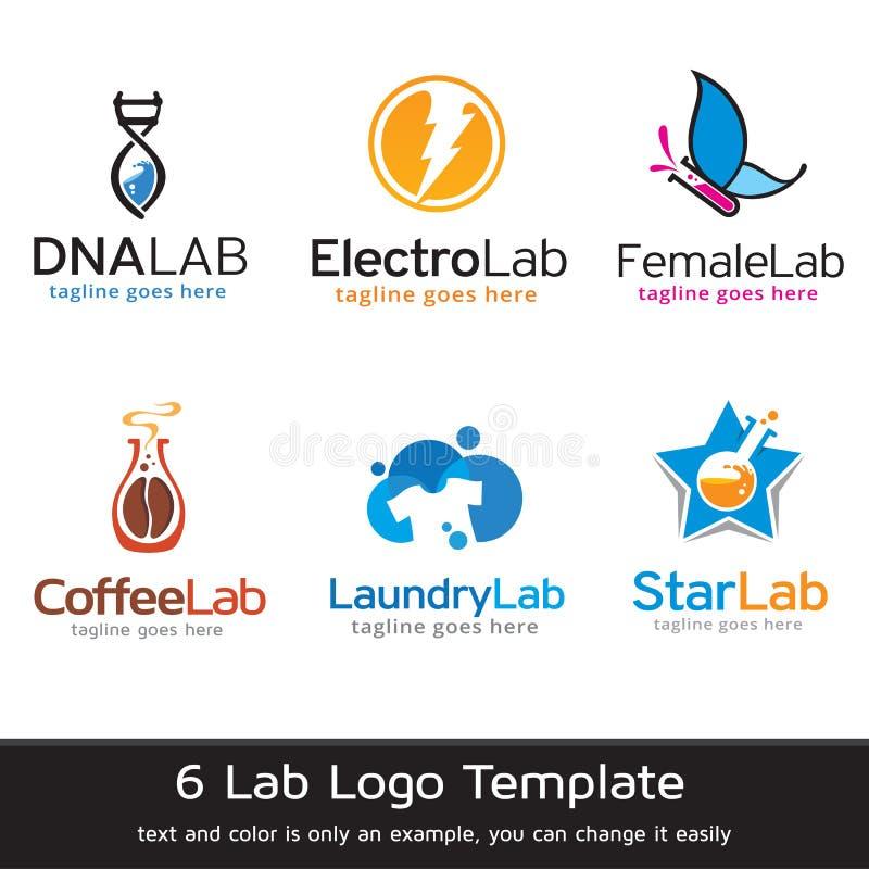 Lab loga szablonu projekta wektor ilustracji