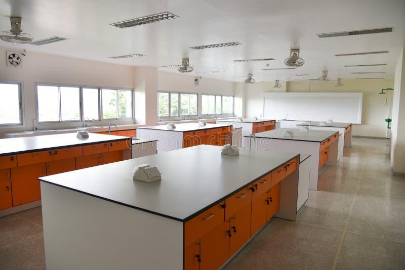 Lab nauki wewnętrzny pokój obrazy stock