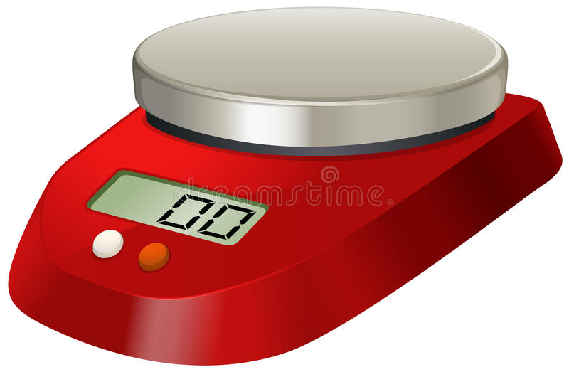 Lab scale with digital number royalty free illustration